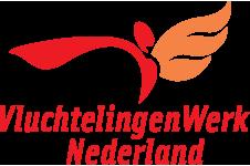 Het logo van Vluchtelingenwerk Nederland